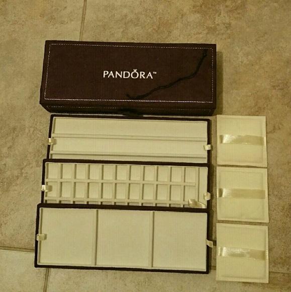 Pandora Jewelry Authentic Pandora Suede Leather Jewelry Box Poshmark